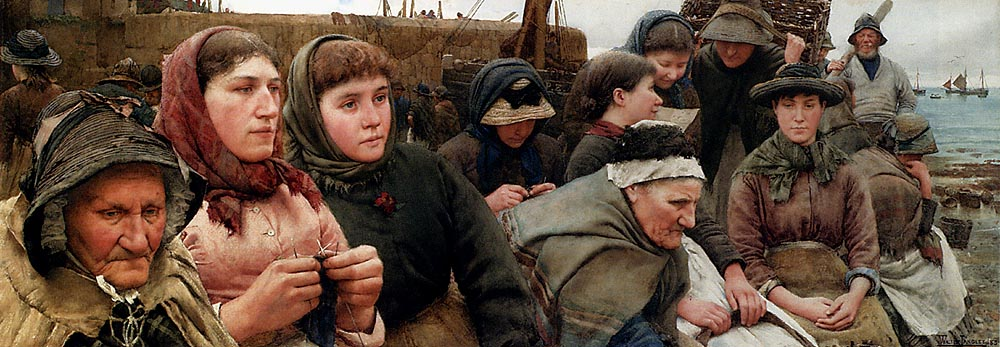 Waiting for the Boats, Walter Langley